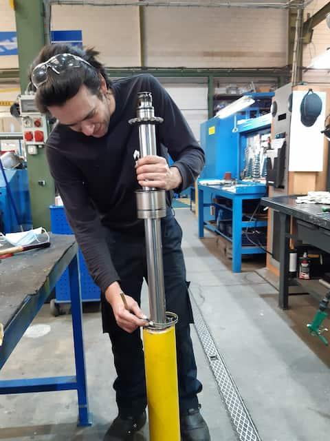Reparación de cilindros hidráulicos